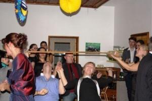 Nach dem offiziellen Teil des Landesjugendtages durfte am Abend fröhlich gefeiert werden.